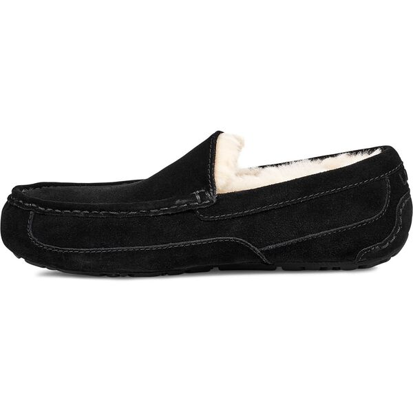 Mens Ascot Slipper, BLACK, hi-res