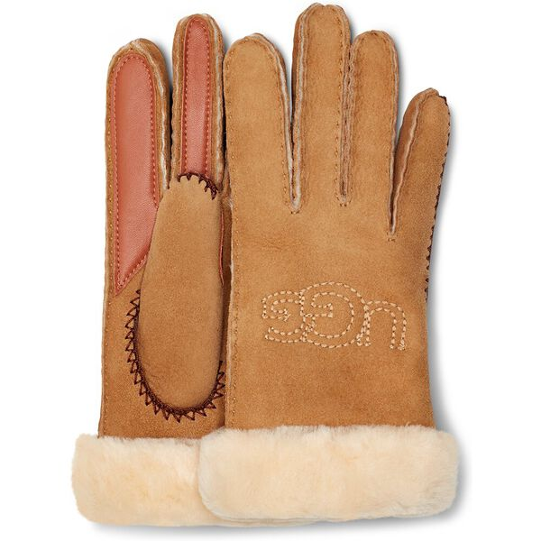 Shearling Embroidered Glove