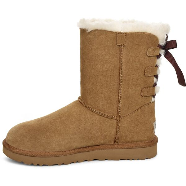 Womens Short Continuity Bow Boot, CHESTNUT, hi-res