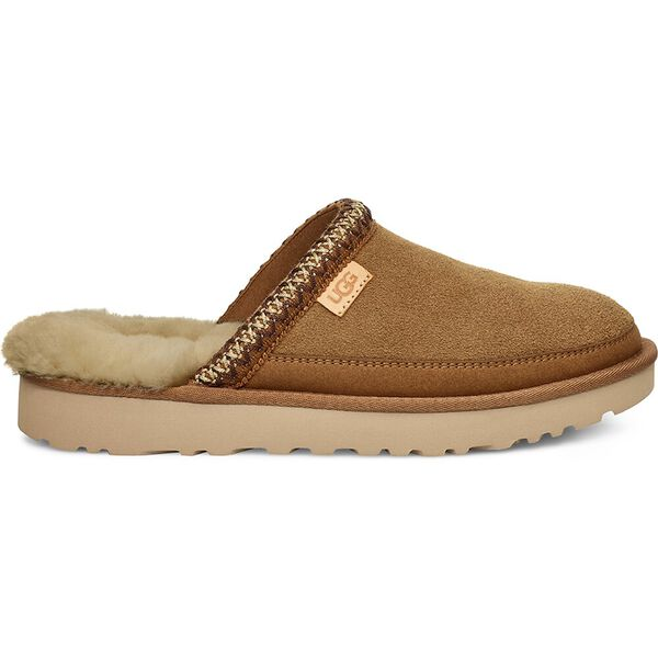 Mens Tasman Slip-On Slipper, CHESTNUT, hi-res