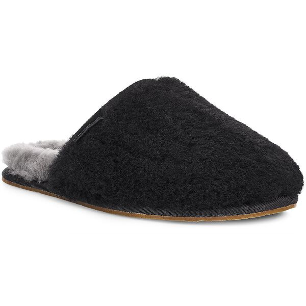 Womens Fluffette Slipper, BLACK, hi-res