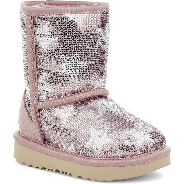 Toddlers Classic Short II Sequin Star Boot, PINK CRYSTAL, hi-res