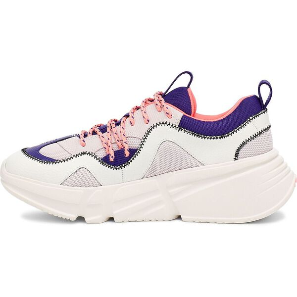 Womens Calle Lace Sneaker, WHITE/COBALT, hi-res