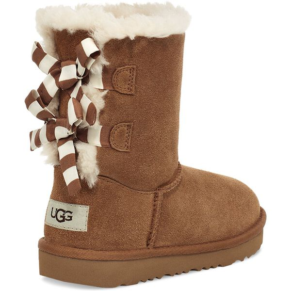 Kids Bailey Bow Striped Boot, CHESTNUT, hi-res