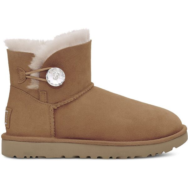 Womens Mini Bailey Button Bling II Boot, CHESTNUT/GOLD, hi-res