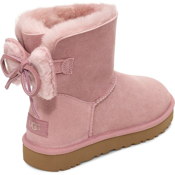 CLASSIC DOUBLE BOW MINI BOOT, PINK CRYSTAL, hi-res