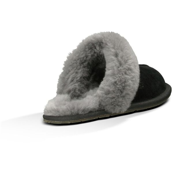 Womens Scuffette II Slipper, BLACK GREY, hi-res