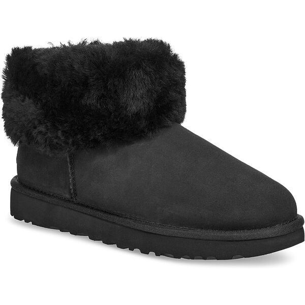 Classic Mini Fluff Boot, BLACK, hi-res
