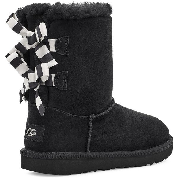 Kids Bailey Bow Striped Boot, BLACK, hi-res