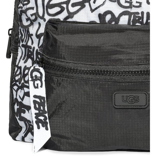 ALLIE RIP STOP BACKPACK, BLACK/WHITE, hi-res
