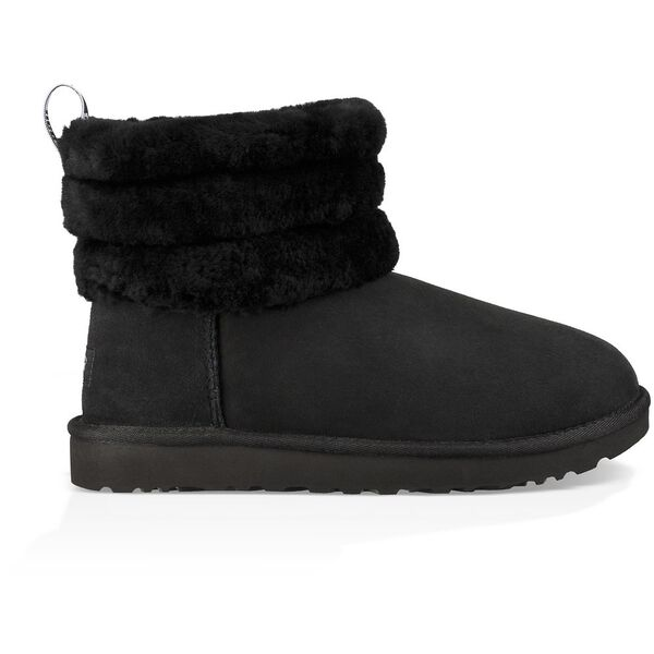 Classic Mini Fluff Quilted Boot, BLACK, hi-res