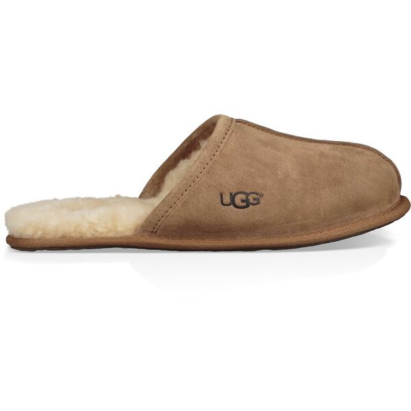 Scuff Suede Slipper, CHESTNUT, hi-res