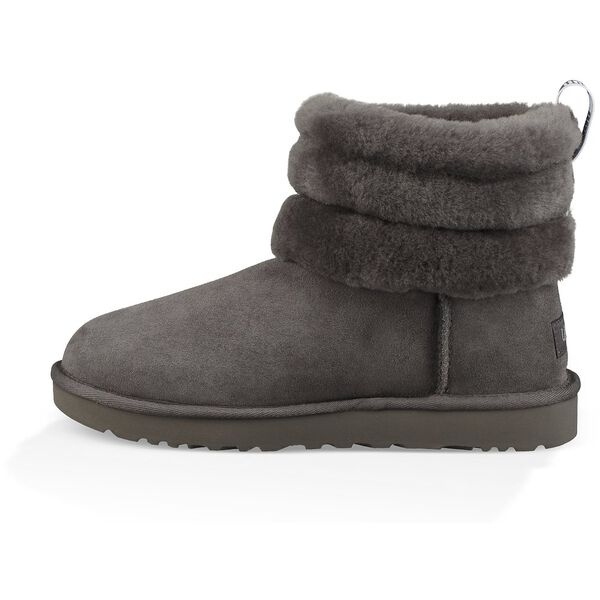 Classic Mini Fluff Quilted Boot, CHARCOAL, hi-res
