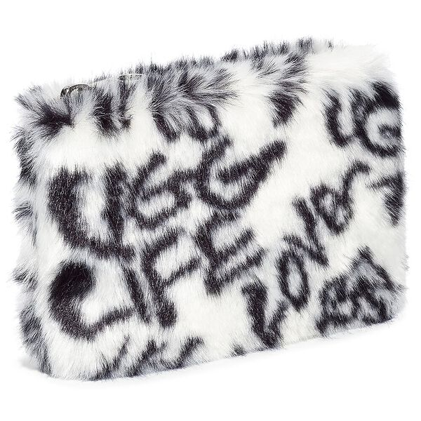 SMALL ZIP POUCH, BLACK/WHITE, hi-res