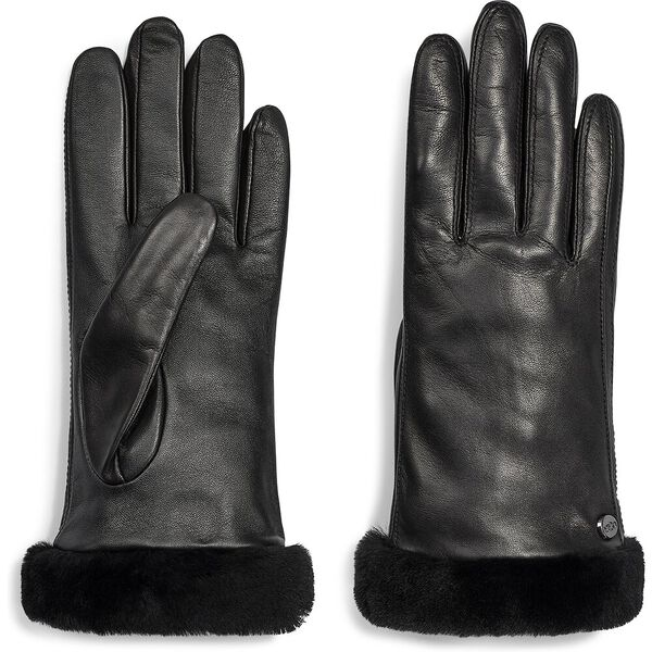 CLASSIC LEATHER TECH GLOVE, BLACK, hi-res