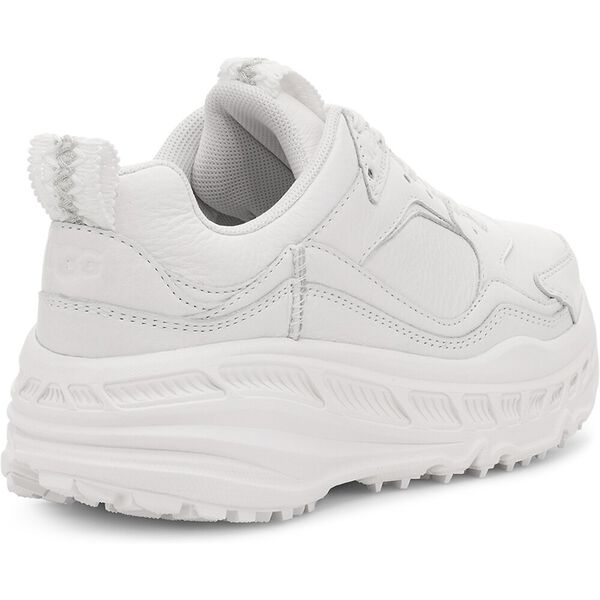 Womens CA805 Leather Sneaker, WHITE, hi-res