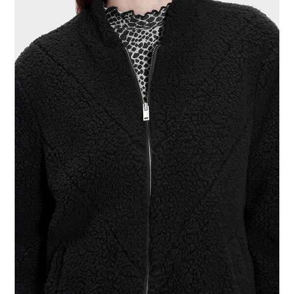 Annalise Teddy Jacket, BLACK, hi-res