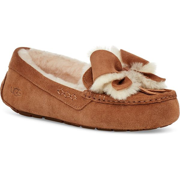 Womens Ansley Bow Slipper, CHESTNUT, hi-res
