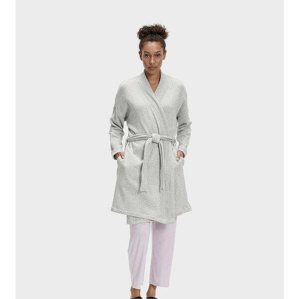 Womens Braelyn II Robe, SEAL HEATHER, hi-res
