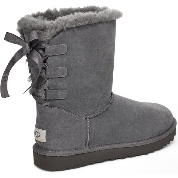 Womens Short Continuity Bow Boot, CHARCOAL, hi-res