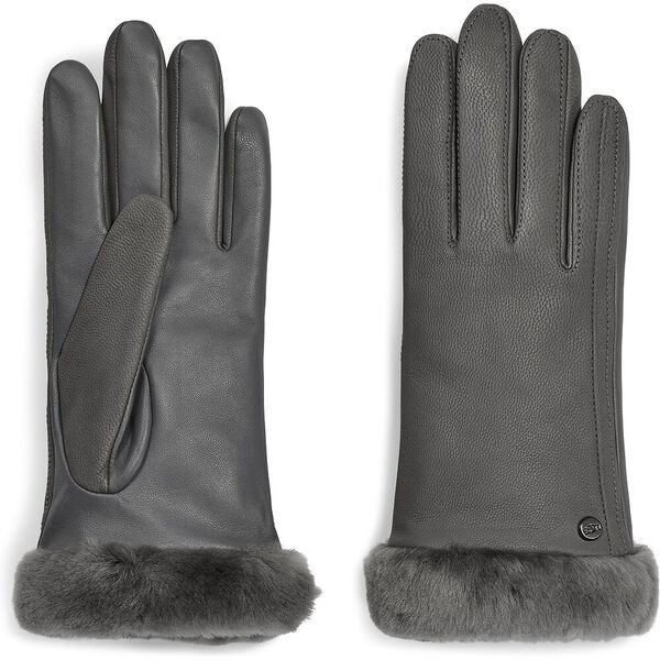CLASSIC LEATHER TECH GLOVE, CHARCOAL, hi-res