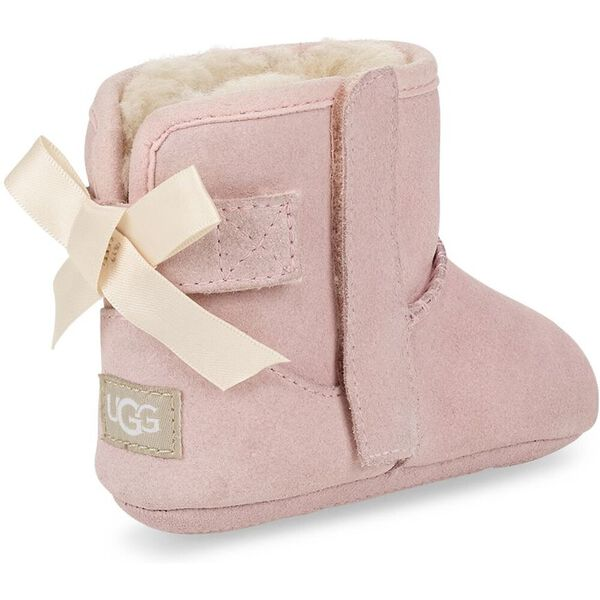 Infants Jesse Bow II And Beanie Bootie, PINK, hi-res