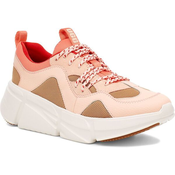 Womens Calle Lace Sneaker, SAND/PINK DUSK, hi-res