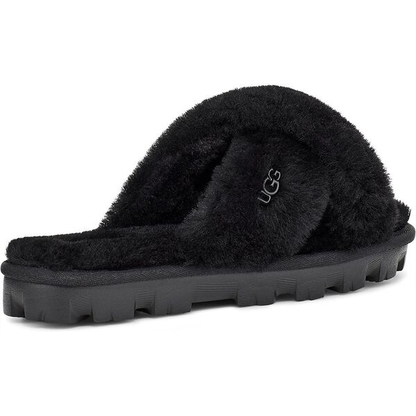 Fuzzette Slide, BLACK, hi-res
