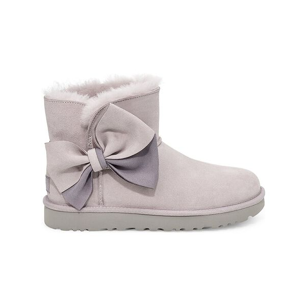 Womens Classic Mini Two-Tone Bow Boot, FEATHER, hi-res