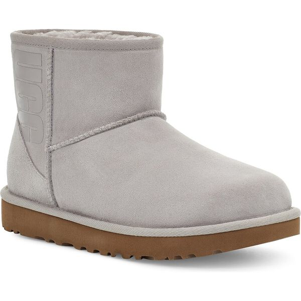 Classic Mini UGG Rubber Logo Boot, FEATHER, hi-res