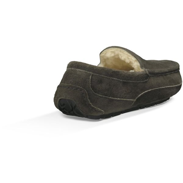 Mens Ascot Suede Slipper, CHARCOAL, hi-res