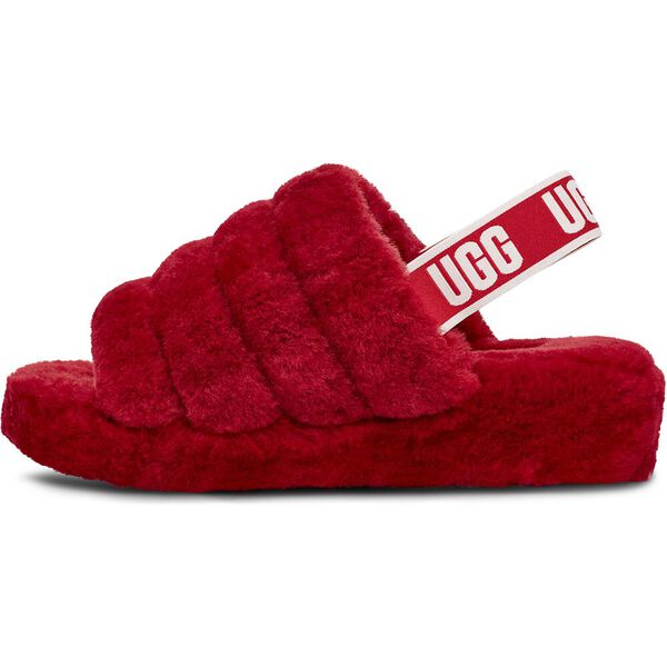 Womens Fluff Yeah Slide, RIBBON RED, hi-res